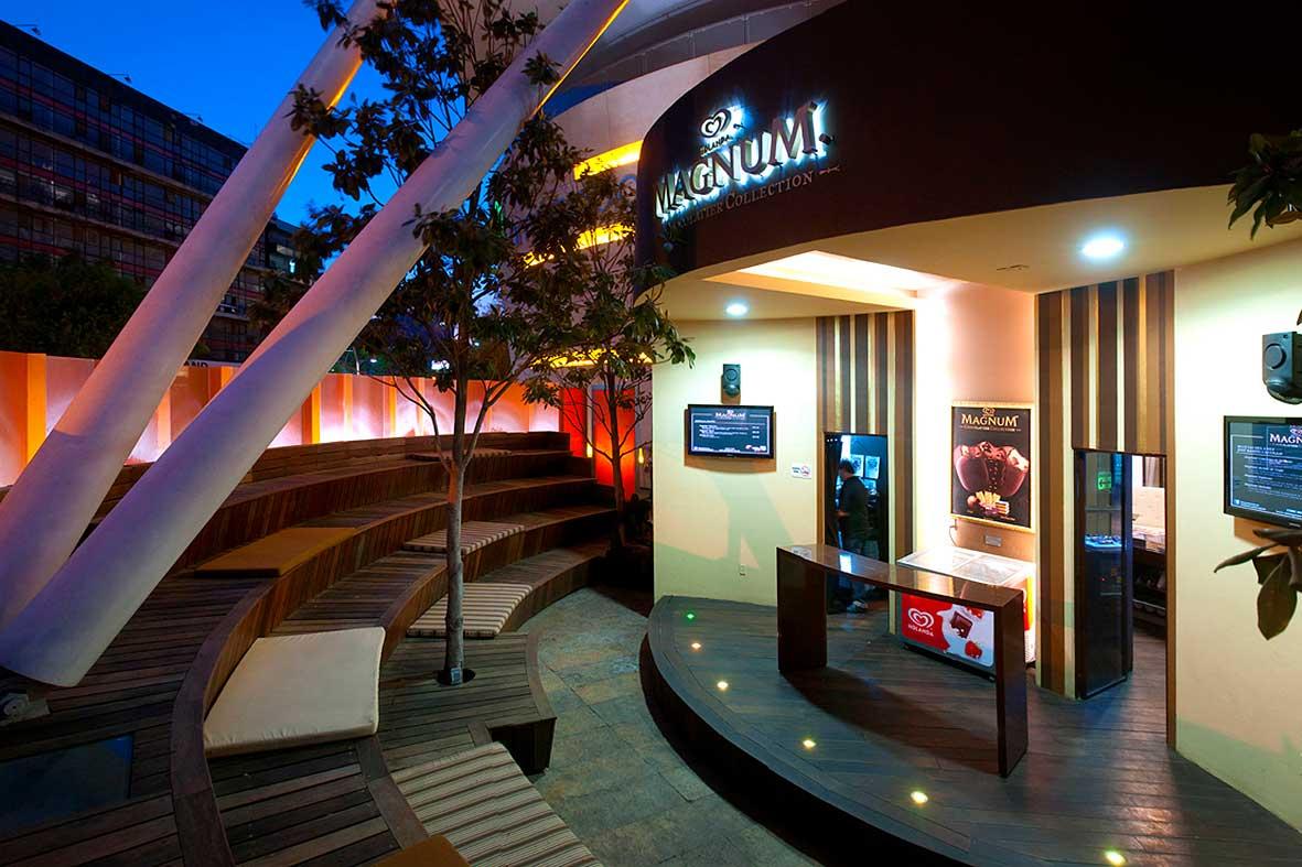 Un espacio que Depa 102 creó para disfrutar de las Paletas Magnum en el centro comercial Antara Polanco