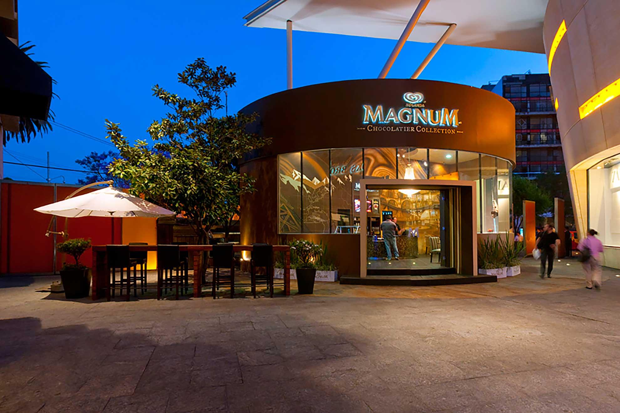 Un espacio que el despacho arquitectónico de interiores Depa 102 creó inspirándose en la marca de paletas Magnum.