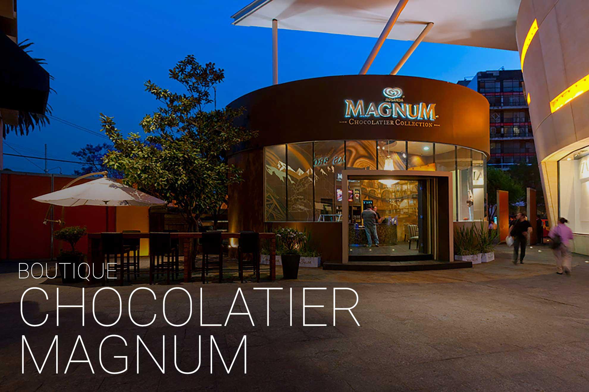 Heladería Boutique Magnum, creada y diseñada por Depa 102 ubicada en el centro comercial Antara Polanco