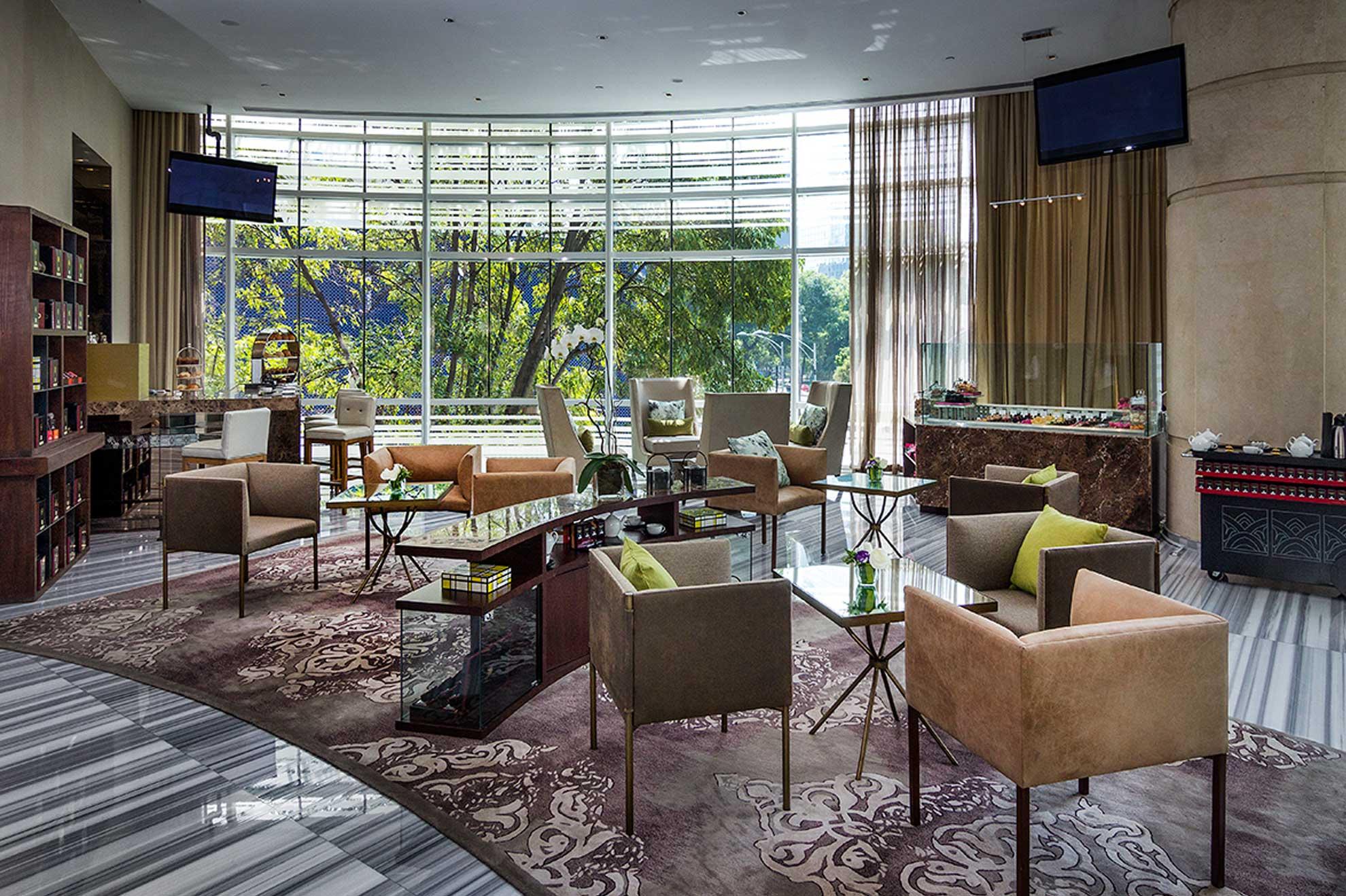 Lobby y Salón de Té Damman Glass House para St. Regis con vista a Paseo de la Reforma