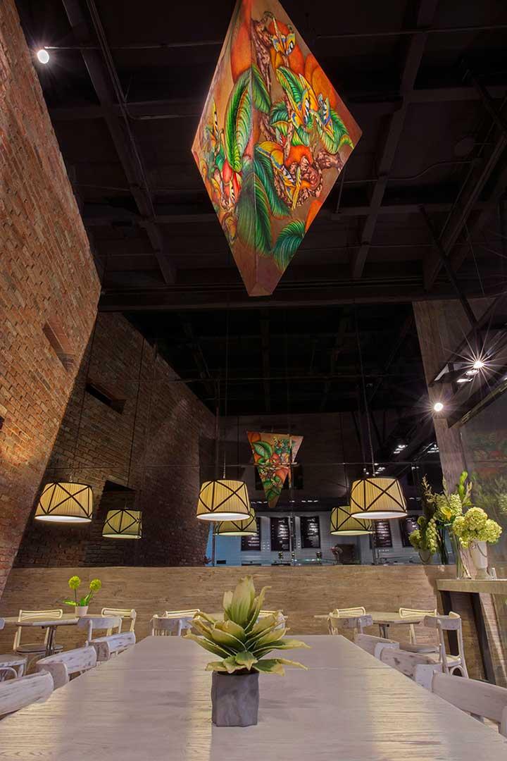 Espacio creado por el despacho Depa 102 para el restaurante Juliette Gourmet en santa Fé