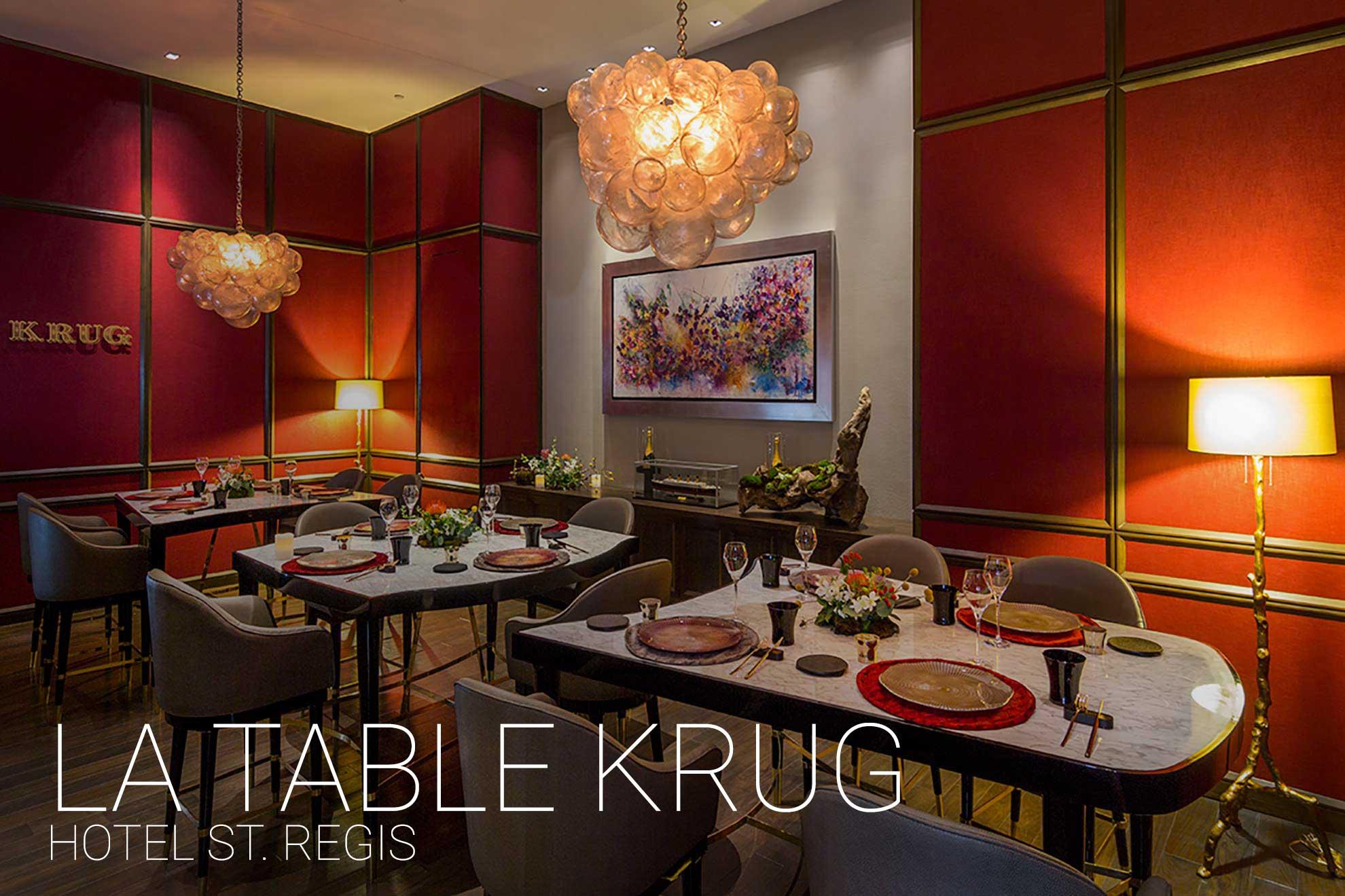 La Table Krug St Regis Depa102