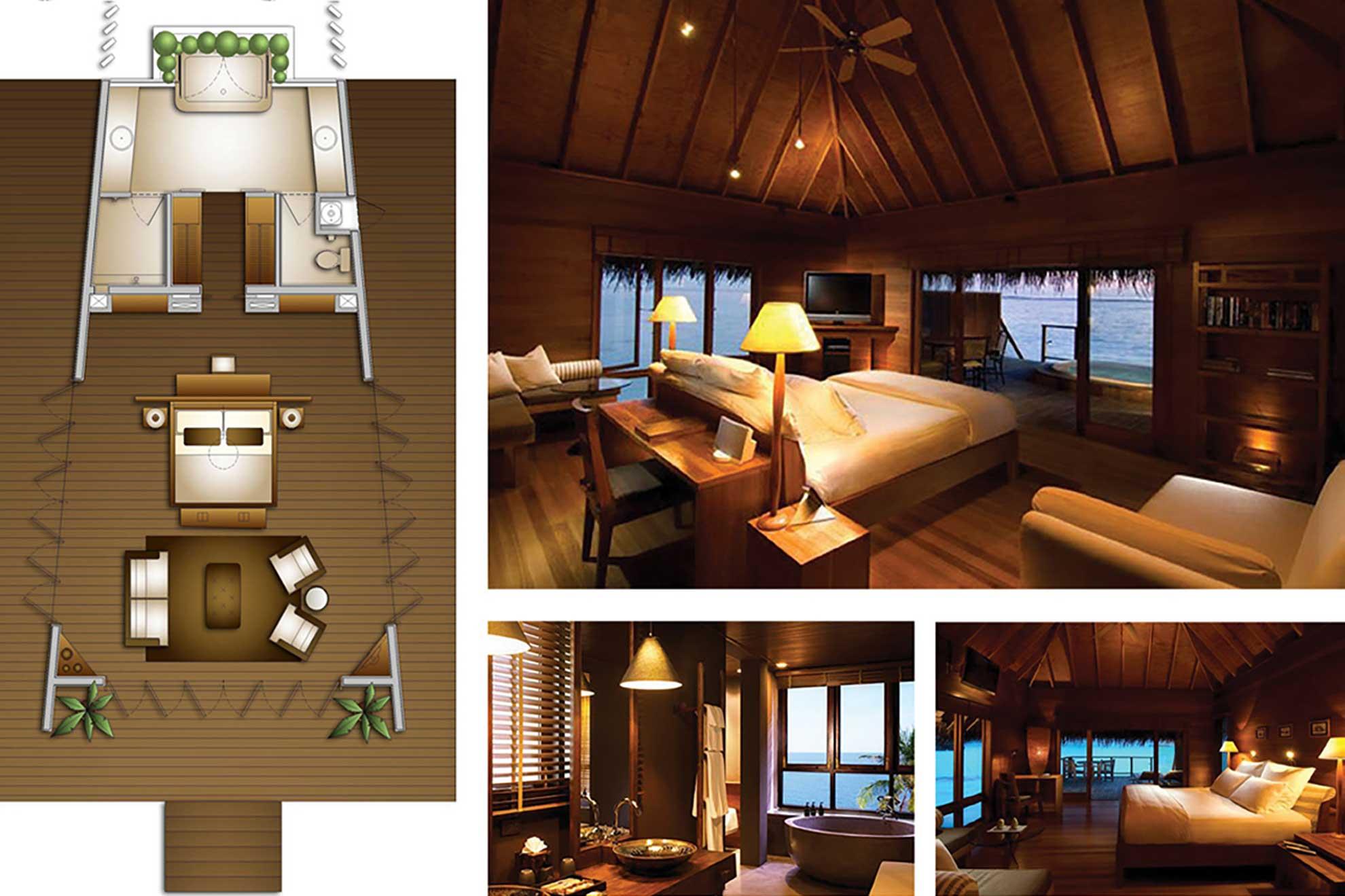 Render de las habitaciones para las Villas presidenciales ubicadas en Cancún Quintana Roo, diseñadas y creadas por Depa 102